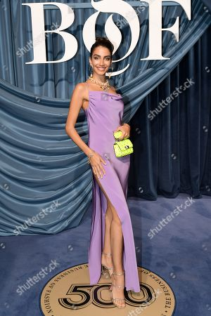 Lebanese TV personality Jessica Kahawaty arrives for the Business of Fashion, BoF 500 gala held at the Hotel de Ville in Paris, France, 30 September 2019 (issued 01 October 2019).
