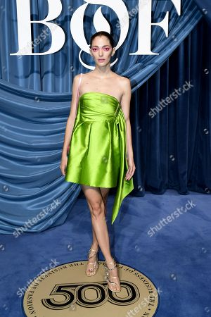Stock Image of New York-based Argentine creative director Sofia Sanchez de Betak arrives for the Business of Fashion, BoF 500 gala held at the Hotel de Ville in Paris, France, 30 September 2019 (issued 01 October 2019).
