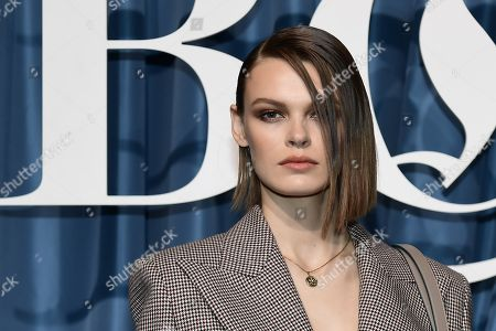 Stock Photo of US model Cara Taylor arrives for the Business of Fashion, BoF 500 gala held at the Hotel de Ville in Paris, France, 30 September 2019 (issued 01 October 2019).