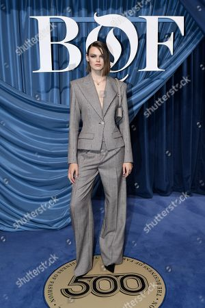 Stock Picture of US model Cara Taylor arrives for the Business of Fashion, BoF 500 gala held at the Hotel de Ville in Paris, France, 30 September 2019 (issued 01 October 2019).