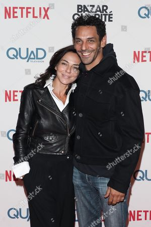 "Tomer Sisley and his girlfriend Sandra Zeitoun attending ""Le Bazar de la Charite"" TF1 Serie premiere at the Grand Rex on September 30, 2019 in Paris, France.//03VULAURENT_20190930VU0391/1910010146/Credit:LAURENT VU/SIPA/1910010149"