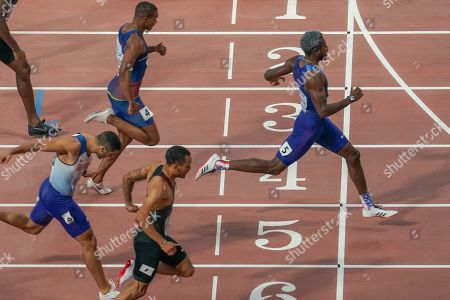 Noah Lyles (USA), Adam Gemili (Great Britain), Men's 100 Metres, during the 2019 IAAF World Athletics Championships at Khalifa International Stadium, Doha
