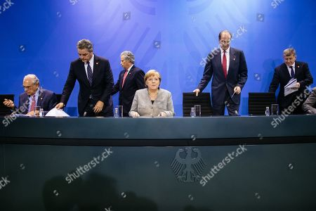 Editorial image of German Chancellor Merkel meets economic and financial organisations in Berlin, Germany - 01 Oct 2019