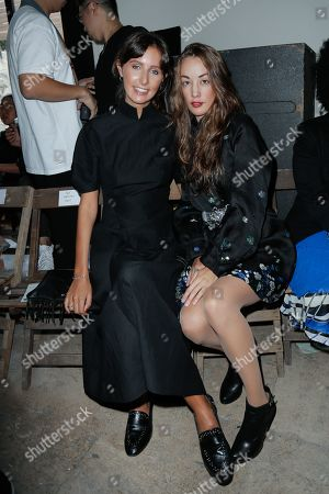 Clemence Rochefort and Juliette Besson in the front row