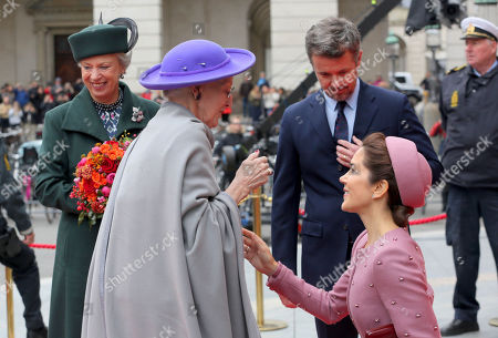 Queen Margrethe II, Crown Princess Mary, Crown Prince Frederik and Princess Benedikte