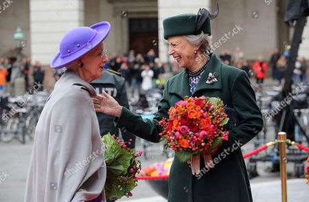 Stock Picture of Queen Margrethe II and Princess Benedikte