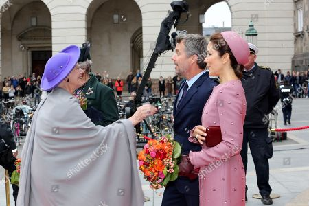 Queen Margrethe II, Crown Prince Frederik and Crown Princess Mary