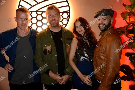 Stock Photo of Ben Bridgewater, Dan Lywood, Yasmin Mills and Justin Horne