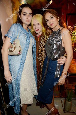 Maddie Mills, Pam Hogg and Yasmin Mills