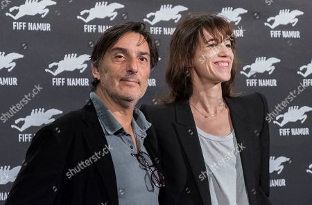 Stock Picture of Yvan Attal and Charlotte Gainsbourg