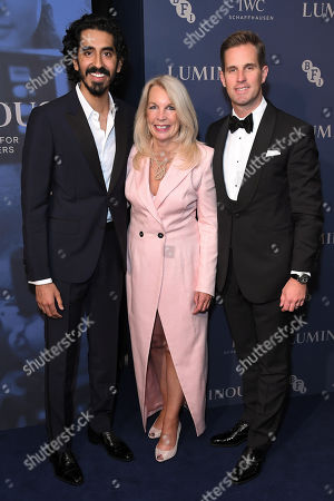 Dev Patel, Amanda Nevill and Christoph Grainger-Herr