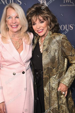 Amanda Nevill and Joan Collins