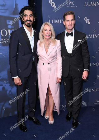 Stock Image of Dev Patel, Amanda Nevill and Christoph Grainger-Herr