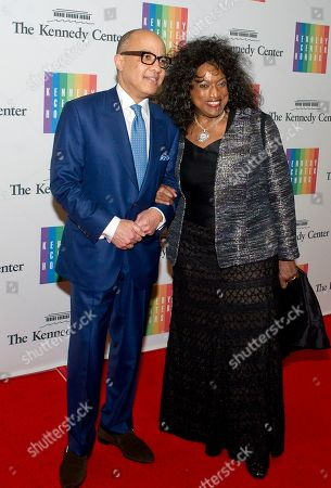 Jessye Norman and Darren Walker arrive for the formal Artist's Dinner honoring the recipients