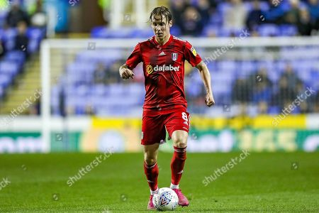 Fulham midfielder Stefan Johansen (8) on the ball during the EFL Sky Bet Championship match between Reading and Fulham at the Madejski Stadium, Reading