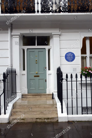 Editorial photo of Bob Marley plaque unveiled at his home, London, UK - 01 Oct 2019