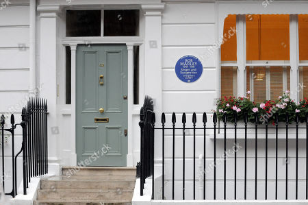 Editorial image of Bob Marley plaque unveiled at his home, London, UK - 01 Oct 2019