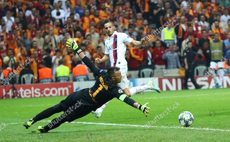 Galatasaray's goalkeeper Fernando Muslera in action  at UEFA Champions League group A match between Galatasaray and Paris Saint Germain in Istanbul, Turkey 01 October 2019.