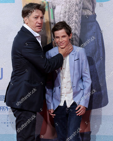 Tobias Moretti (L) and Levi Eisenblaetter attend the premiere of 'Deutschstunde' (The German Lesson) at the Lichtburg Cinema in Essen, Germany, 01 October 2019.