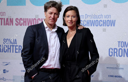 Stock Photo of Tobias Moretti (L) and Johanna Wokalek attend the premiere of 'Deutschstunde' (The German Lesson) at the Lichtburg Cinema in Essen, Germany, 01 October 2019.
