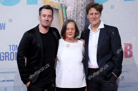 Christian Schwochow, his mother and scriptwriter Heide Schwochow and actor Tobias Moretti attend the premiere of 'Deutschstunde' (The German Lesson) at the Lichtburg Cinema in Essen, Germany, 01 October 2019.