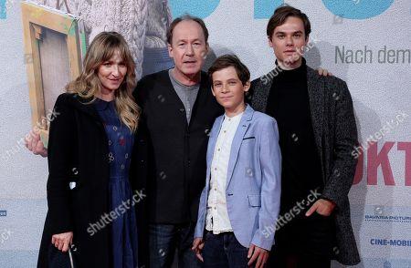 Sonja Richter, Ulrich Noethen, Levi Eisenblaetter and Tom Gronau attend the premiere of 'Deutschstunde' (The German Lesson) at the Lichtburg Cinema in Essen, Germany, 01 October 2019.