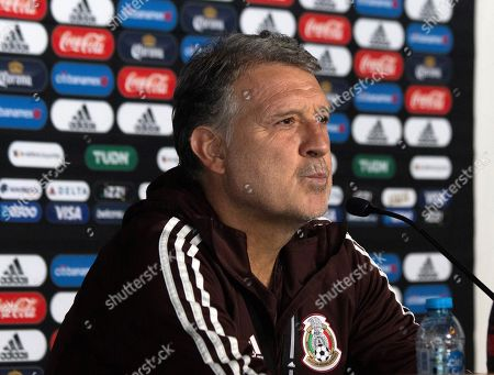Mexico national soccer team head coach Argentinian Gerardo Martino attends a press conference in Mexico City, Mexico, 01 October 2019. Mexican team will face Trinidad and Tobago as part of is preparation for Concacaf Nations League.