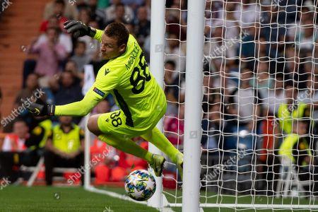 Brugge's Belgian goalkeeper Simon Mignolet