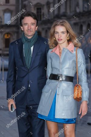 Stock Image of Antoine Arnault and Natalia Vodianova in the front row