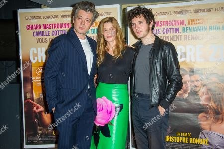 Benjamin Biolay, Chiara Mastroianni and Vincent Lacoste