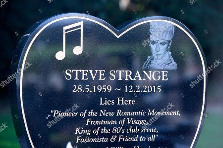 Editorial image of Steve Strange grave, Porthcawl, Wales, UK - 01 Oct 2019
