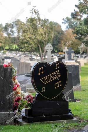 Stock Picture of The grave of the late Visage singer Steve Strange at the Jubilee Gardens Cemetery