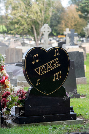 Stock Photo of The grave of the late Visage singer Steve Strange at the Jubilee Gardens Cemetery