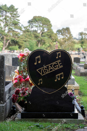 The grave of the late Visage singer Steve Strange at the Jubilee Gardens Cemetery