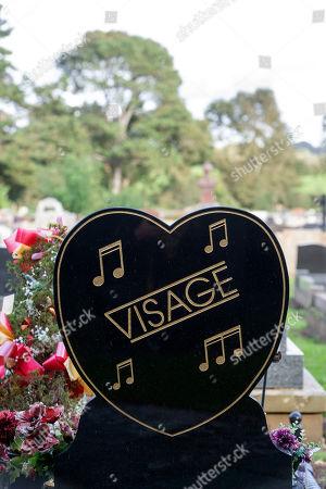 Editorial photo of Steve Strange grave, Porthcawl, Wales, UK - 01 Oct 2019