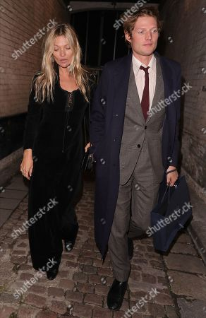 Kate Moss and Nikolai von Bismarck attending an afterparty for the Dior Sessions Book launch in Notting Hill
