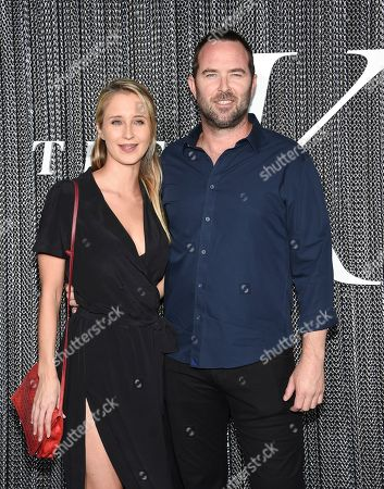 "Stock Image of Sullivan Stapleton, right, and guest attend the premiere of ""The King"" at SVA Theatre, in New York"