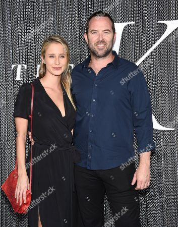 "Sullivan Stapleton, right, and guest attend the premiere of ""The King"" at SVA Theatre, in New York"