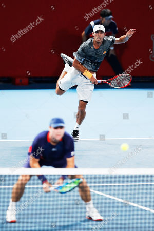 Stock Picture of Luke Bambridge of Great Britain and Ben McLachlan of Japan