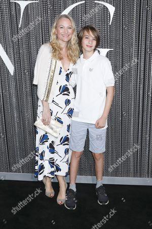Sarah Wynter and son Oscar