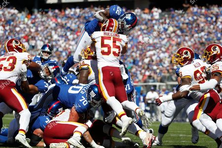 Editorial image of Redskins Giants Football, East Rutherford, USA - 29 Sep 2019