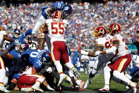 Editorial picture of Redskins Giants Football, East Rutherford, USA - 29 Sep 2019