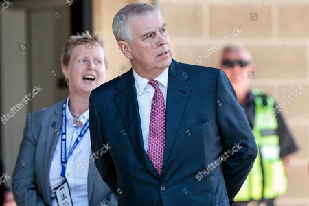 Stock Picture of Britain's Prince Andrew, Duke of York (R) is met by the provost of Murdoch University Professor Romy Lawson upon on his arrival at Murdoch University in Perth, Western Australia, Australia, 02 October 2019. According to reports, Prince Andrew is in Australia on a working visit.