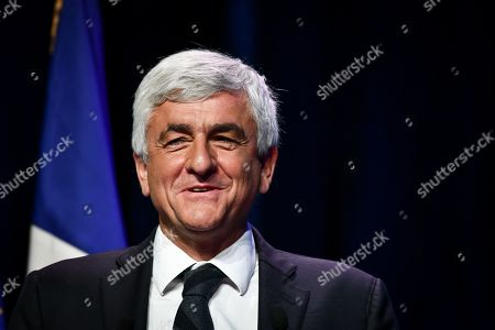 Stock Photo of Normandy Region and Association of Regions of France president, Herve Morin