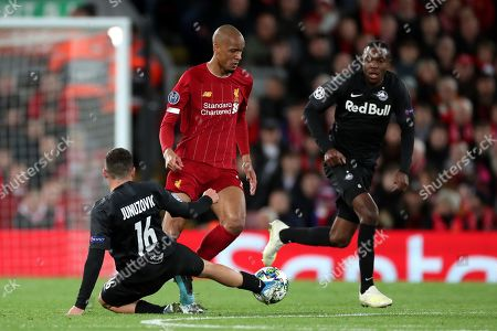 Editorial photo of Liverpool v Red Bull Salzburg, UEFA Champions League, Group E, Football, Anfield, UK - 02 Oct 2019