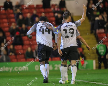 2nd October 2019, Oakwell, Barnsley, England; Sky Bet Championship, Barnsley v Derby County : Kieran Dowell (8) of Derby County calls to the bench for Tom Huddlestone (44) of Derby County as he injures his knee  Credit: Mark Cosgrove/News Images