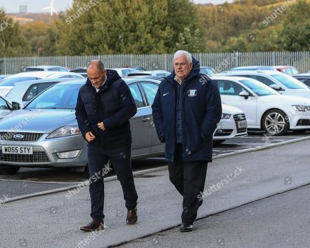 2nd October 2019, Oakwell, Barnsley, England; Sky Bet Championship, Barnsley v Derby County : Alex Neil  manager of Preston North End and Peter Ridsdale advisor to Trevor Hemmings the owner at Preston North End are here to watch Barnsley ahead of their game with Barnsley on Saturday  Credit: Mark Cosgrove/News Images