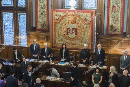 Jean-Jacques Aillagon, Jean Tiberi, Anne Hidalgo, Francoise de Panafieu et Jacques Toubon