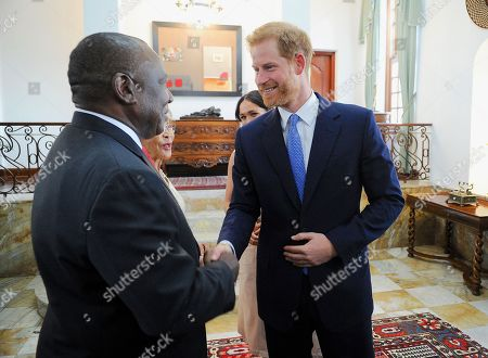 Prince Harry during a meeting with President Cyril Ramaphosa at Pretoria, South Africa