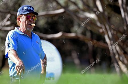 Spanish golfer Miguel Angel Jimenez attends a training session on the eve of Mutuactivos Open de Espana golf tournament at Club de Campo Villa de Madrid golf club, in Madrid, Spain, 02 October 2019. The European Tour's open tournament runs from 03 to 6 October.